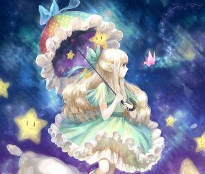 Preview wallpaper girl, anime, art, umbrella