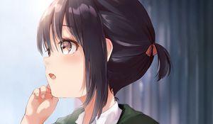 Preview wallpaper girl, backpack, anime, art