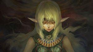 Preview wallpaper girl, elf, hair, meditation