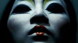 Preview wallpaper girl, face, makeup, dark