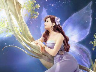 320x240 Wallpaper girl, fantasy, fairy, tree