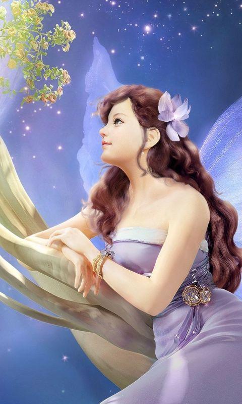 480x800 Wallpaper girl, fantasy, fairy, tree