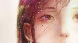Preview wallpaper girl, portrait, face, anime, art