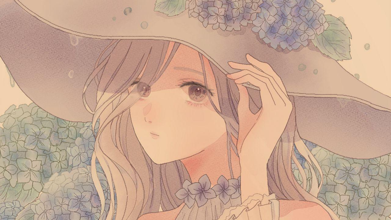 Wallpapergirl,glance,hat,anime高清壁纸免费下载