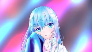 Preview wallpaper girl, glance, light, anime
