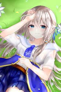 Preview wallpaper girl, glance, smile, anime, art, cute