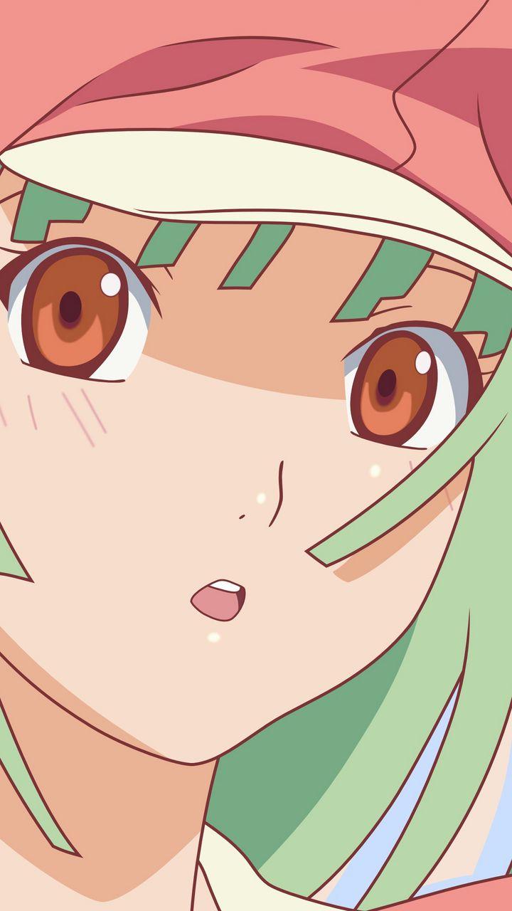 720x1280 Wallpaper girl, hair, green, hat, surprise