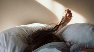 Preview wallpaper girl, hair, morning