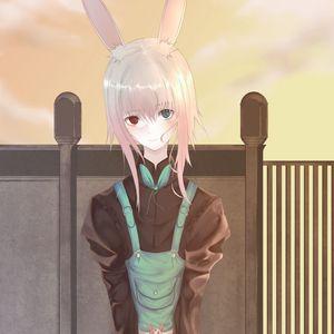 Preview wallpaper girl, hare, ears, anime, art, cute