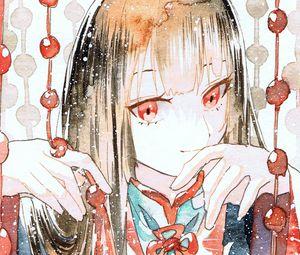 Preview wallpaper girl, kimono, watercolor, anime, art