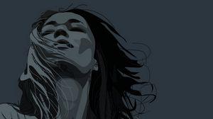 Preview wallpaper girl, portrait, face, hair