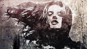 Preview wallpaper girl, portrait, face, hair, wind