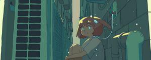 Preview wallpaper girl, sad, gateway, anime, art