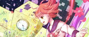 Preview wallpaper girl, schoolgirl, artist, fantasy, anime