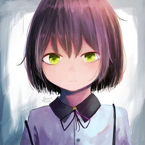 Preview wallpaper girl, shirt, glance, anime, art