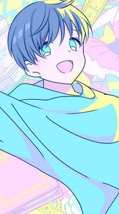 Preview wallpaper girl, smile, joy, happy, anime, art