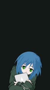 Preview wallpaper girl, anime, tablet, teenager