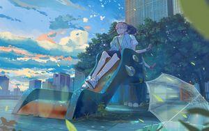 Preview wallpaper girls, friends, slide, anime