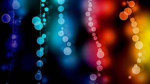 Preview wallpaper glare, bokeh, circles, colorful, blur