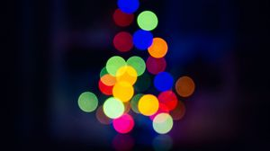 Preview wallpaper glare, circles, bokeh, colorful, abstraction, blur