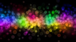 Preview wallpaper glare, rainbow, circles, background