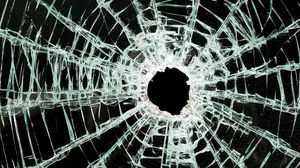 Preview wallpaper glass, cranny, broken, shards of glass