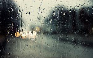 Preview wallpaper glass, drop, rain, moisture