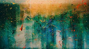 Preview wallpaper glass, spots, paint, abstraction, surface, transparent