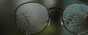 Preview wallpaper glasses, drops, glass, blur