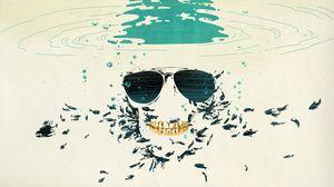Preview wallpaper glasses, skull, drawing