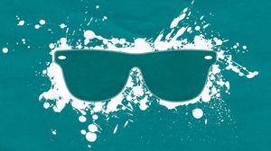 Preview wallpaper glasses, splashes, backgrounds, white, blue, green