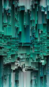 Preview wallpaper glitch, noise, interference, green, abstraction
