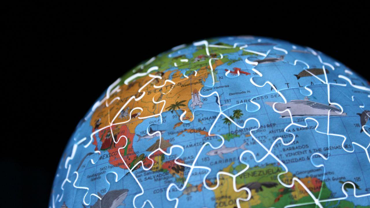 Wallpaperglobe,map,puzzle高清壁纸免费下载