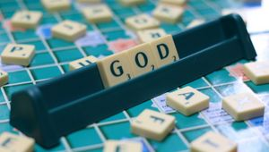 Preview wallpaper god, cubes, religion, word