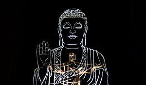 Preview wallpaper god, deity, religion, art, black