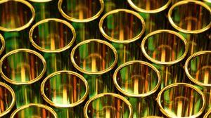 Preview wallpaper gold, pipes, circles, shapes