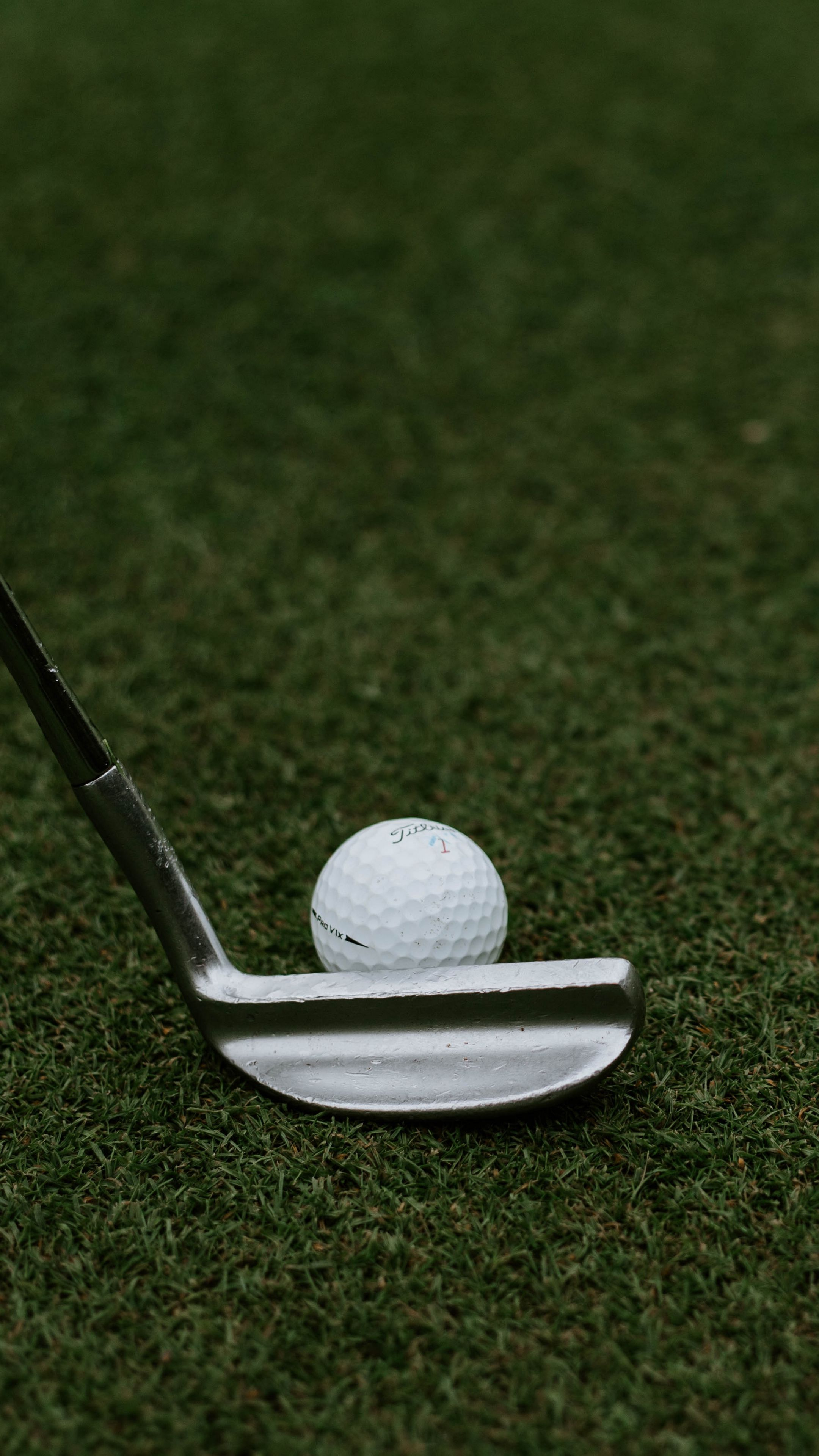 2160x3840 Wallpaper golf, ball, club