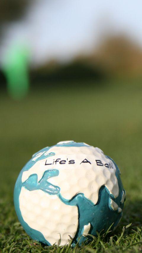 480x854 Wallpaper golf, ball, grass