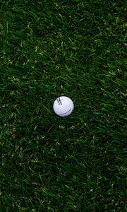 Preview wallpaper golf, ball, grass, lawn