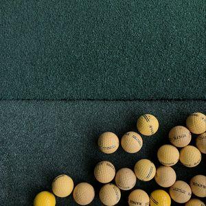 Preview wallpaper golf, balls, lawn, green, yellow
