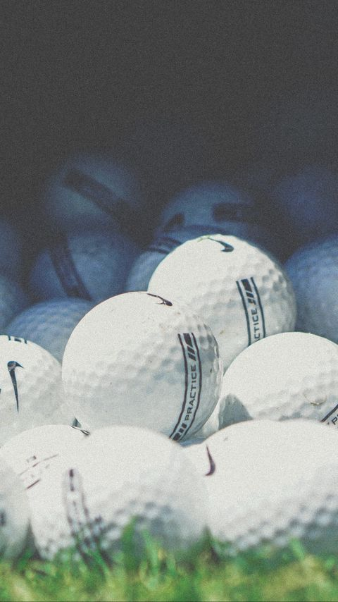 480x854 Wallpaper golf, balls, nike