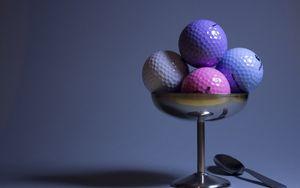 Preview wallpaper golf, golf balls, imitation, food