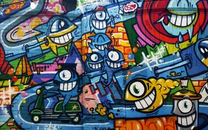 Preview wallpaper graffiti, art, bright, wall