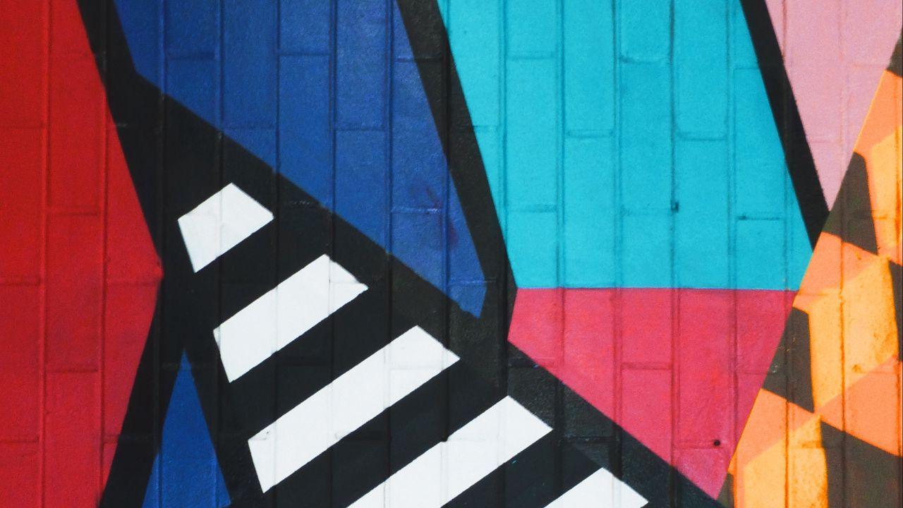 Wallpaper graffiti, art, stripes, colorful