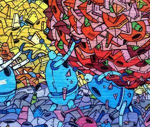 Preview wallpaper graffiti, art, wall