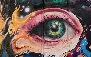 Preview wallpaper graffiti, eye, art, pupil, eyelashes