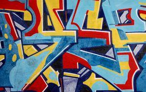 Preview wallpaper graffiti, letters, symbols, paint, wall