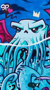 Preview wallpaper graffiti, octopus, street art