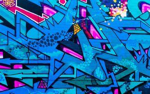Preview wallpaper graffiti, street art, colorful, wall, urban
