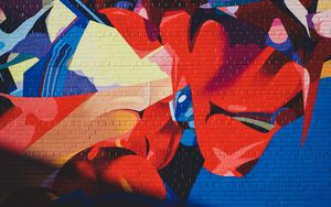 Preview wallpaper graffiti, wall, abstraction, colorful, paint